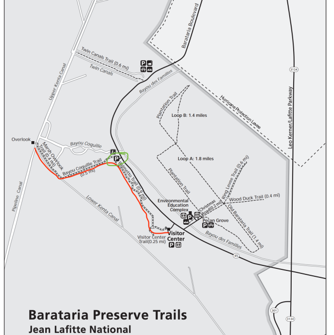 Barataria Trail Map