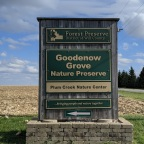 Hiking at Goodenow Grove Nature Preserve, Beecher